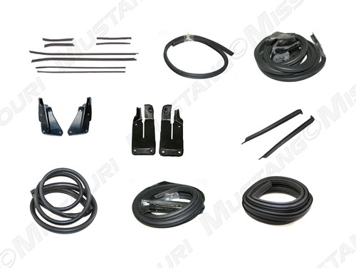 1971-1973 Ford Mustang Coupe weatherstrip kit, basic.