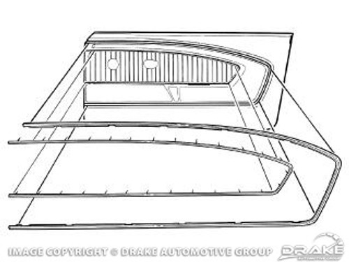 1965-66 Deluxe Pony Door Panel Trim Single
