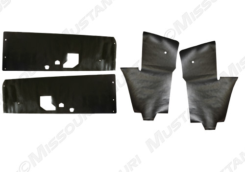 1969-1970 Ford Mustang Convertible, water shields, 4 piece set.  Made in USA.