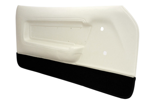 1971-1973 Ford Mustang deluxe door panels, pair.  White with Black Carpet