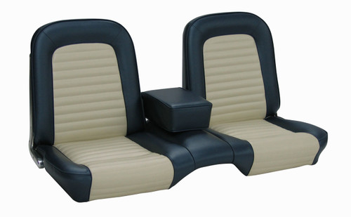 1965 Ford Mustang coupe or convertible full set standard upholstery, bench. Covers the front bench and rear seat.