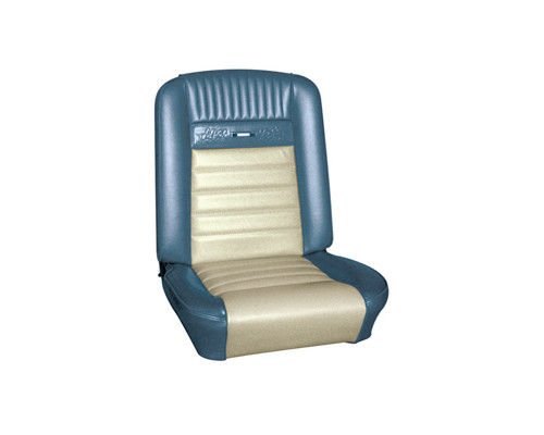 1965-1966 Ford Mustang coupe, convertible and fastback Pony seat upholstery front bucket only, pair.