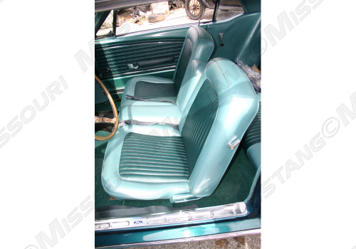 1968 Ford Mustang front seat upholstery for a standard bench.  Front set only.