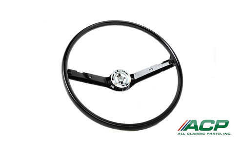 1968-1969 Ford Mustang standard steering wheel, black.