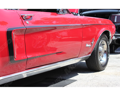 1968 Ford Mustang C stripe kit. This is a non-reflective, solid finish stripe.