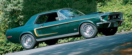 1968 Ford Mustang C Stripe Reflective Gold