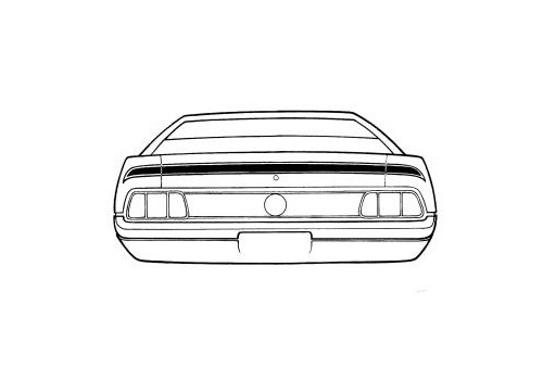 1971-1972 Ford Mustang Mach 1 trunk lid stripe kit.