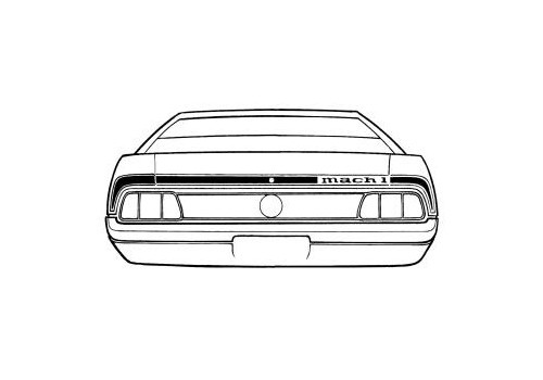 1973 Ford Mustang Mach 1 trunk lid stripe kit.