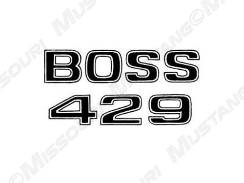 1969-1970 Ford Mustang Boss 429 fender decal.