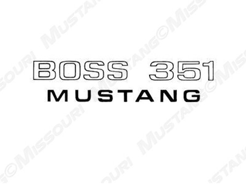 1971 Ford Mustang Boss 351 Fender decal