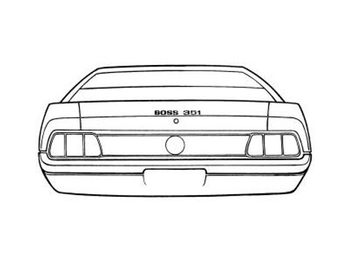 1971 Ford Mustang Boss Trunk Stripe.  This is the narrow pin stripe on trunk lid and quarter caps.