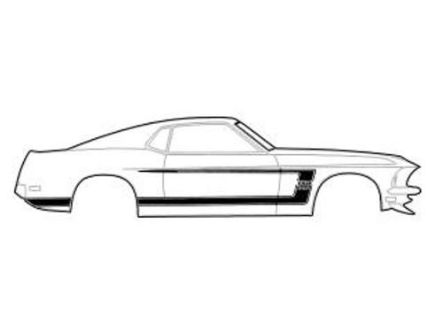 1969 Ford Mustang Boss 302 stripe kit.