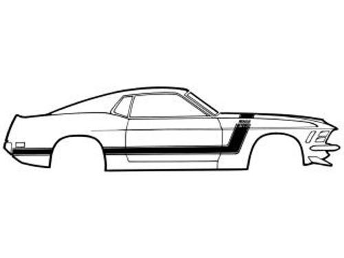 1970 Ford Mustang Boss 302 side stripe kit.