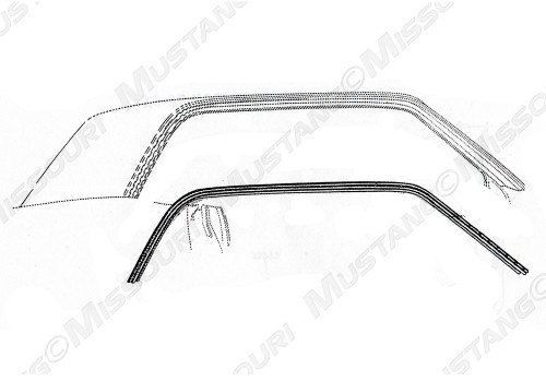 1974-1978 Ford Mustang roof rail weatherstripping.