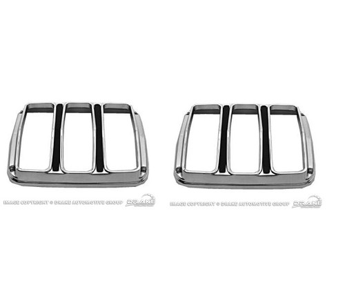 1964-66 Tail Lamp Bezels Concours