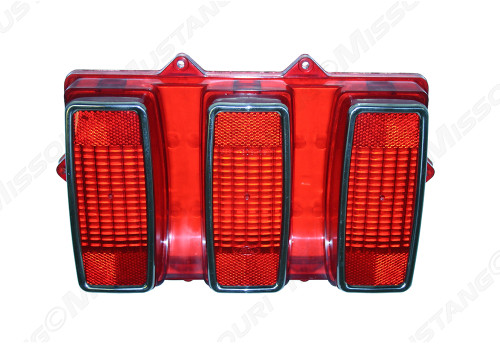 1969 Tail Lamp Lens w/ Stainless Trim Ford