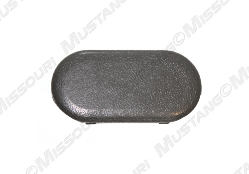 1987-1993 Ford Mustang console mount access oval plug.