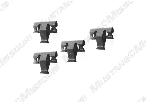 1987-1993 Ford Mustang console shifter bezel clip, set of four.