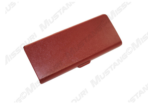 1987-1993 Ford Mustang console ashtray lid, scarlet red.
