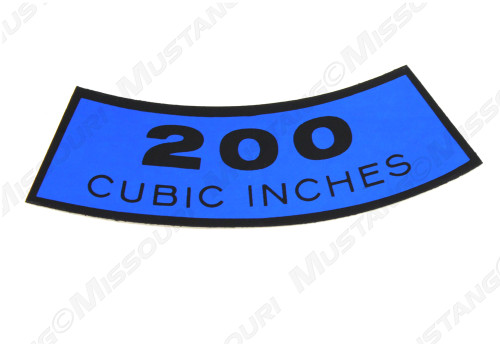 1965-67 200 Cubic Inch Decal