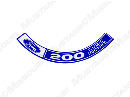 1970 Air Cleaner Decal 200 c.i.