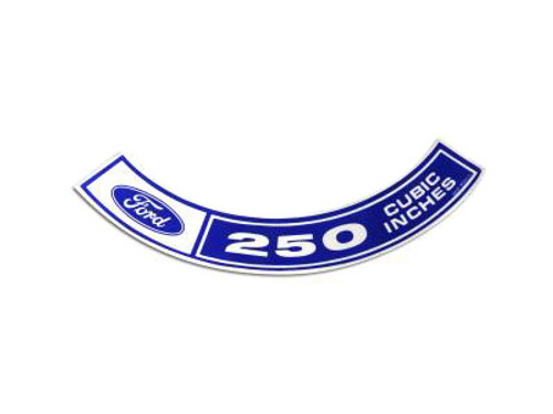 1970-71 Air Cleaner Decal 250 c.i.