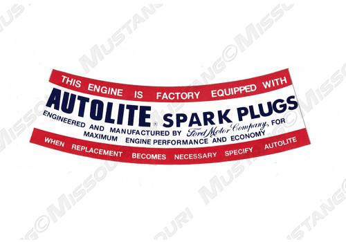 1964-1967 Autolite Spark Plug Decal