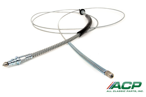 1969 Ford Mustang rear emergency brake cable.