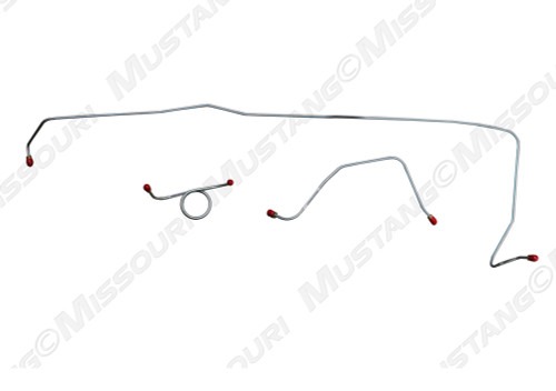 1964-1965 Ford Mustang front brake line set, drum.