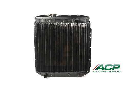 1964-1966 Ford Mustang 6 cylinder, 3 row radiator. Made from Copper/Brass with 95% copper purity.  Original appearance with modern efficiency.