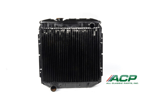 1964-1966 Ford Mustang radiator for late model 302 applications.  Original style brass/copper blend with 95% copper purity.