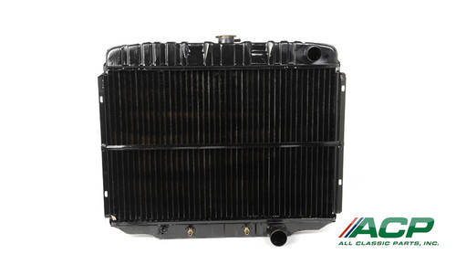 1968-1969 Ford Mustang 8 cylinder, 3 row radiator, 24 inch. Original style brass/copper blend with 95% copper purity.