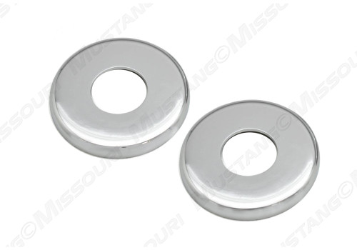 1969-1970 Ford Mustang door handle and crank backing plate, package of two.