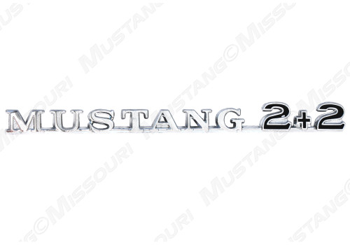 1965-66 Fender Emblem Mustang Script 2 + 2