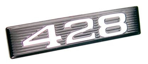1969 Hood Scoop Emblem Number Plate