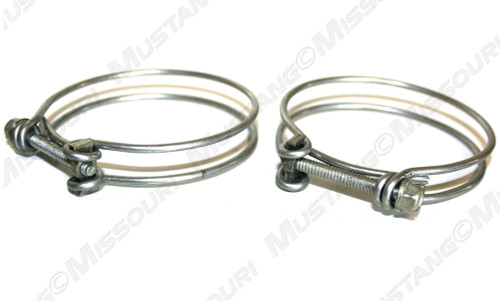 1965-1970 Ford Mustang fuel filler pipe hose clamps.