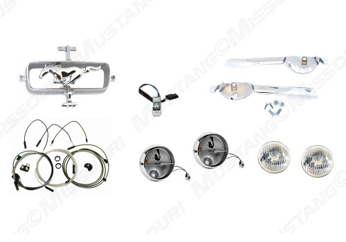 1965 Fog Lamp Conversion Kit w/o Grille