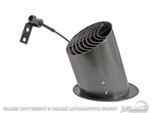 1967-1968 Ford Mustang drivers side air vent. Comes with cable.  A great replacement for the original rusty underdash air vent.