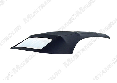 1994-2004 Ford Mustang convertible top with plastic curtain.