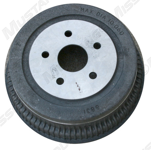 1964-1973 Ford Mustang front brake drum, each.  Size: 10 inch. Fits 8 cylinder models, left or right side.