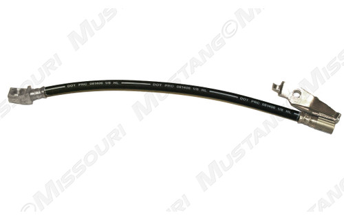 1971-1973 Ford Mustang disc brake hose, left side.