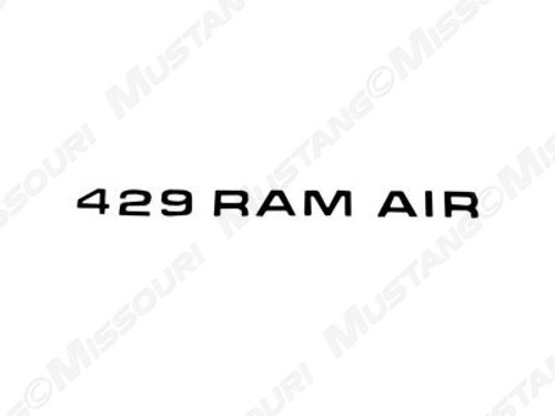 1971 Ram Air Decal 429