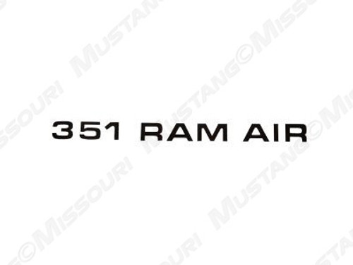 1971-72 Ram Air Hood Decal 351