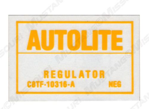 1968-70 Voltage Regulator Decal with Air