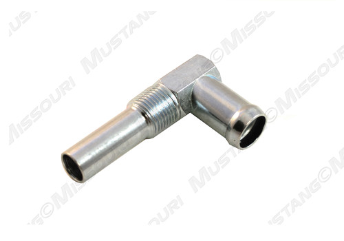 1964-1973 Ford Mustang Water Inlet Elbow Small Block Silver Zinc