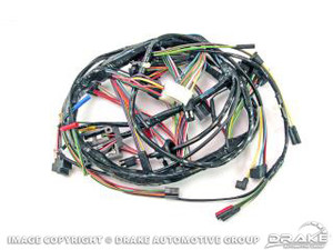 1968 ford mustang underdash wiring harness for models with factory tach but  no gt option