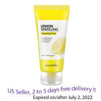 SECRET KEY Lemon Sparkling Cleansing Foam 120g + Free Sample !!