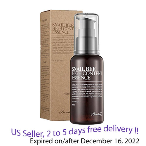 Benton Snail Bee High Content Essence 60ml + Free sample !!