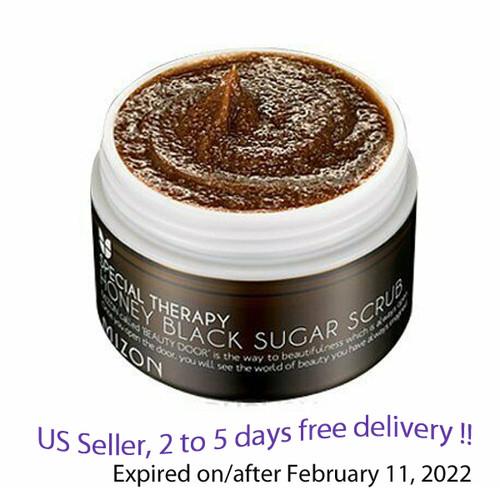 Mizon Honey Black Sugar Scrub 90g + Free Gift Sample !!