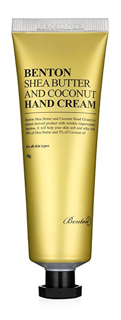 BENTON shea butter and coconut hand cream 50g + Free sample !!